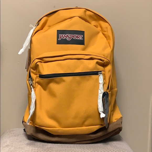 4c2af3498c New Mustard Yellow Jansport Right Pack Backpack NWT